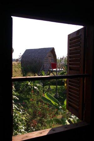 Ganesha Kampot Eco Guesthouse and More: Aussicht aus dem Khmer Haus