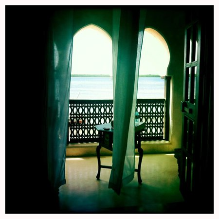 Lamu House Hotel: View from the room to the sea