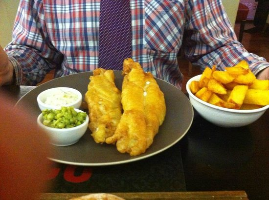 Restaurant 23: Fish and chips were delicious- best batter ever- crisp and thin and not at all greasy!