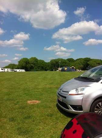 Kennexstone Camping and Touring Park: view from our caravan pitch