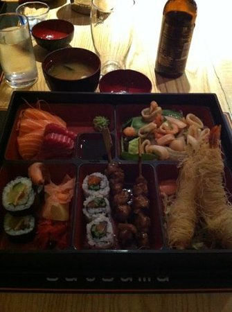 Satsuma: bento box with miso soup