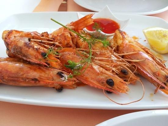 Lan Sang : Grilled King Prawns - Thai style