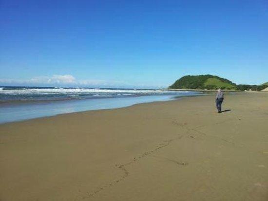 Ocean View Hotel: Walk along the beach