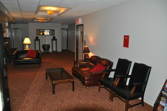 The Hotel 91: The coffee/lounge area on the second floor (2012)