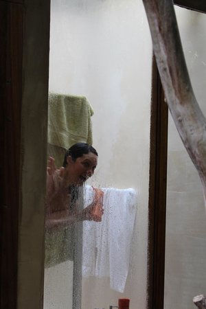 Trogon House and Forest Spa: Shower view outside-not for the faint hearted!!