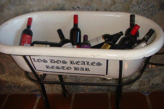 los vinos de Los dos reales