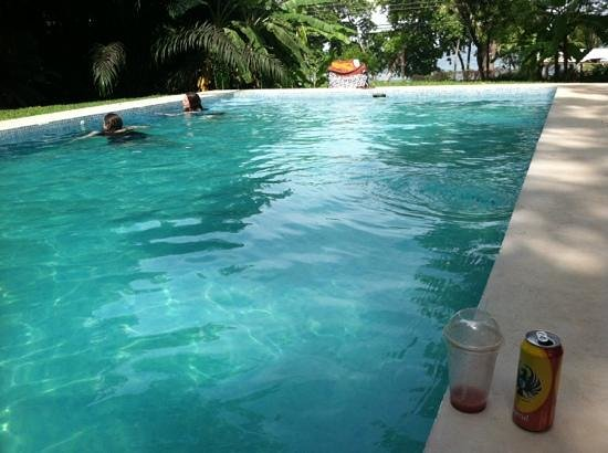 Hotel Luz de Mono: beautiful pool with nice ocean view and nature sounds
