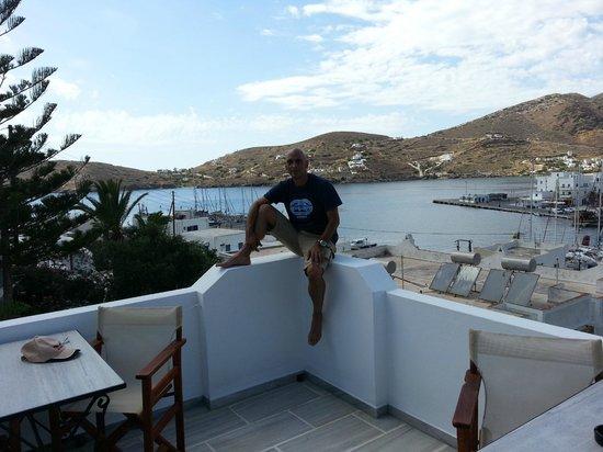 Hotel Poseidon : Balcony view