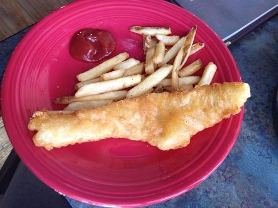 Joey's Seafood and Grill: fish and chips kids menu