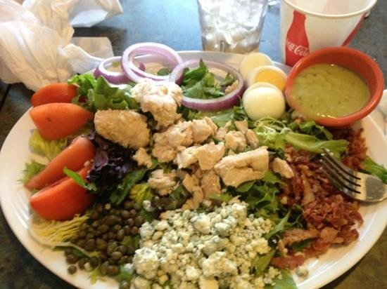 Joey's Seafood and Grill: salad with guacamole dressing