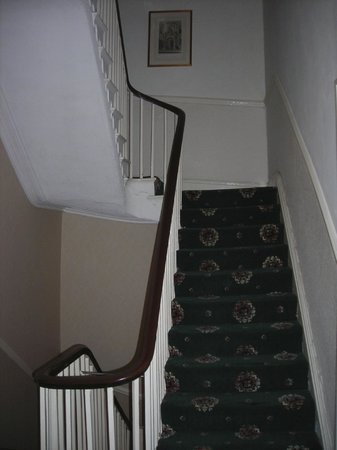 The Broadway Hotel: Haunted stairs - must be why they're a little crooked