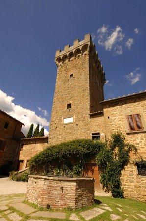 La Torre di Gargonza: il pozzo con la torre trecentesca