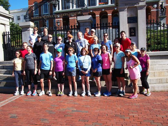 Freedom Trail Run: Our running group!
