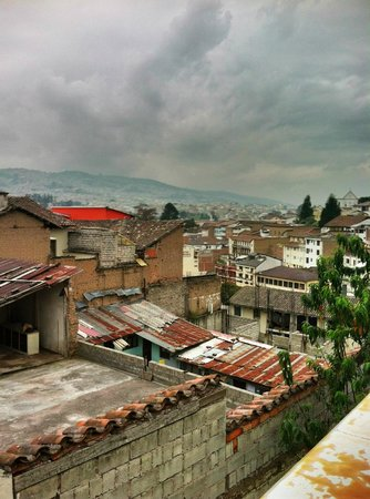 La Posada Colonial: Another view of Quito from rooftop terrace.