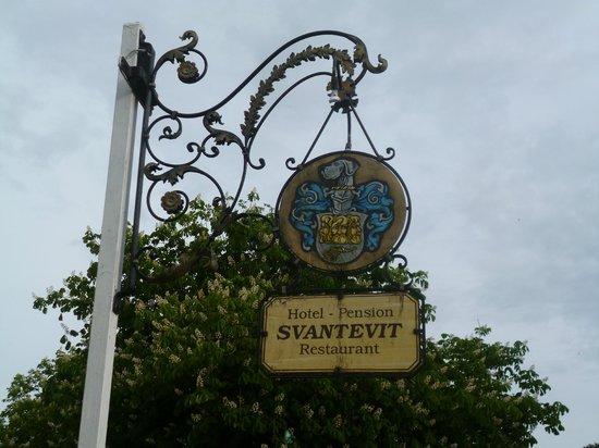 Hotel-Restaurant Svantevit: Antikes Schild