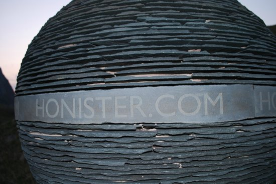 YHA Honister Hause: One of the amazing slate sculptures.