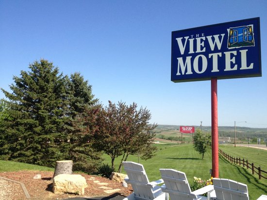 The View Motel: View of the sign in front of the hotel.
