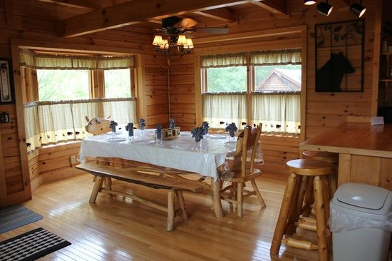 Kitchen as seen from dining room - Picture of Brother\'s Cove Log ...