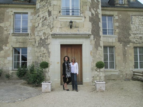 Loire Valley Retreat: My sister and I at the main entrance of the Hotel