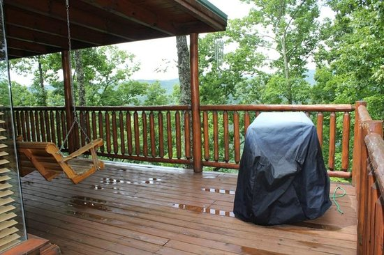 Pleasing Porch With Charcoal Grill Hot Tub Swing 5 Rocking Evergreenethics Interior Chair Design Evergreenethicsorg