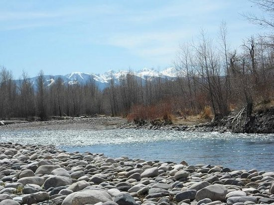 TroutChasers Lodge & Fly Fishing Outfitters: View from the lodge stretch of the Gallatin