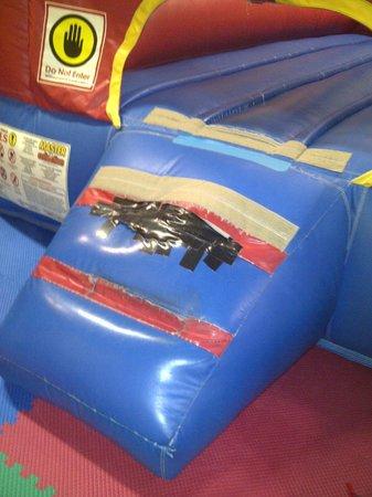 Kangaroo Jac's: Duct tape over worn area