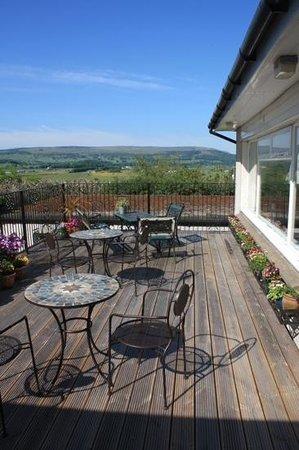 Castlecroft: Sunny back deck