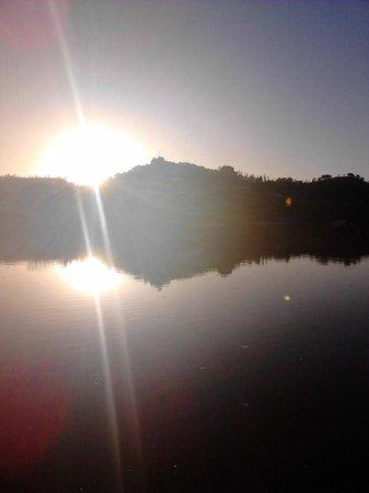 Los Molinos: nascer do sol no rio guadiana