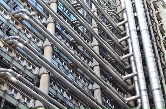 Lloyds of London: Lloyds bank rear.