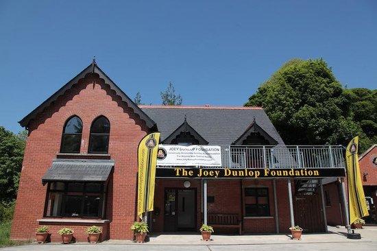 Braddan Bridge House - Joey Dunlop Foundation : Outside the Joey Dunlop Lodge