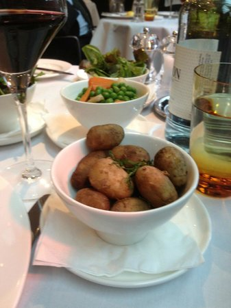 Amphitheatre Restaurant: Jersey Royal Potatoes