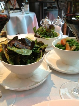 Amphitheatre Restaurant: Green Salad and Braised Peas