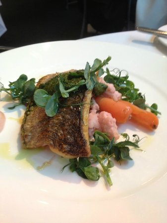Amphitheatre Restaurant: Sea Bass Filet with Pickled Vegetables