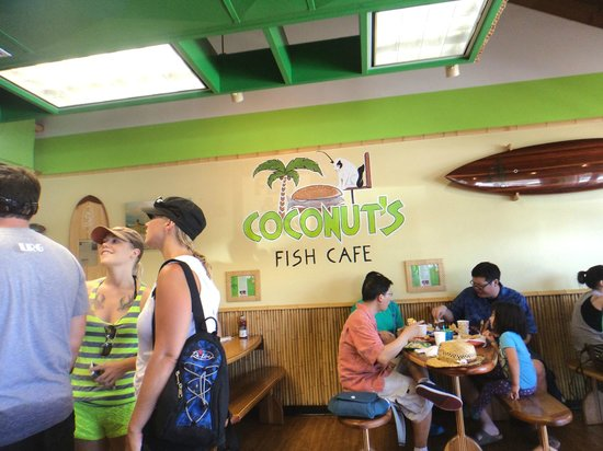 Interior picture of coconut 39 s fish cafe kihei tripadvisor for Coconut s fish cafe