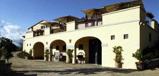 Villa Morelli: gli archi con l'antico carro