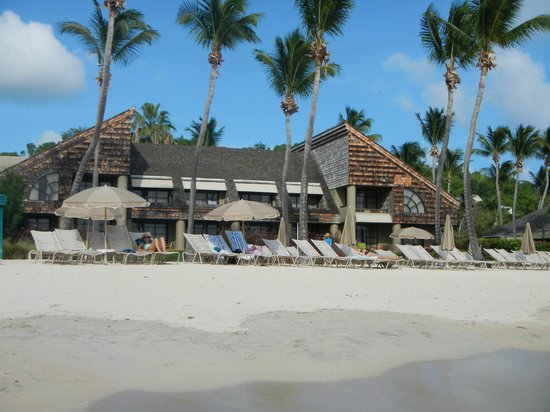 The Westin St. John Resort Villas: view of hotel rooms from beach