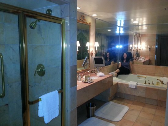 Royal Sonesta Harbor Court Baltimore: Bathroom had HUGE multi-person tub and a shower and double sinks