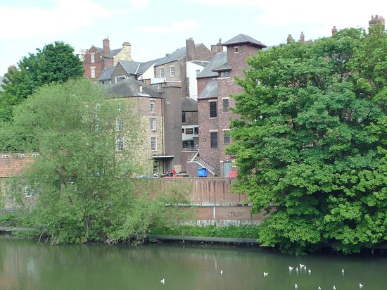 View of Cottons Tea room from across the River Wear