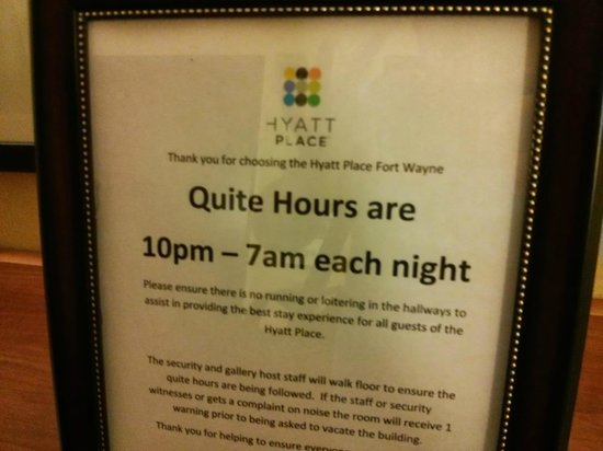 Hyatt Place Fort Wayne: Poor Attention To Detail