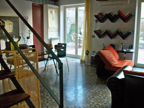 la casa di marzapane: vistas del interior