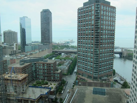 view from room 2606 picture of sheraton grand chicago. Black Bedroom Furniture Sets. Home Design Ideas