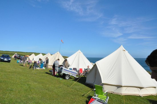 Not Just Any Tent Bell tents at Pencarnon Farm & Bell tents at Pencarnon Farm - Picture of Not Just Any Tent ...