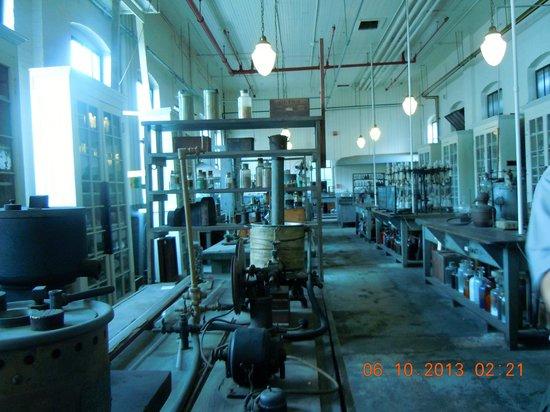 Thomas Edison National Historical Park: chemistry lab
