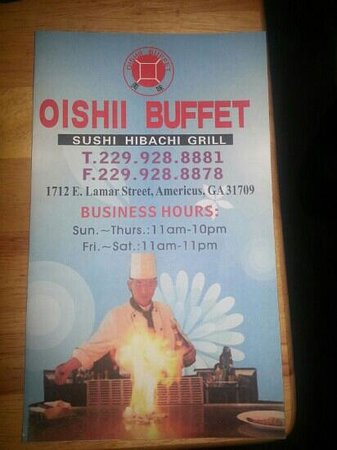 Oishii Buffet: Didn't get a chance to take photos so I submit this flyer