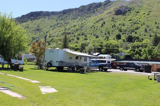 Aura Soma Lava RV spots with a great mountain view.