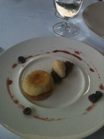 Jaso Restaurant : Crème brûlée con pera