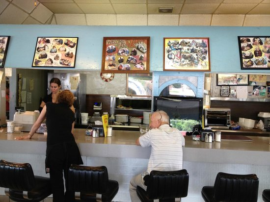 Aunt Fannie's Restaurant: Partial view of the front counter.