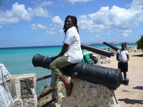 Hilton Barbados Resort: Astrid the Cannon at Hilton Barbados