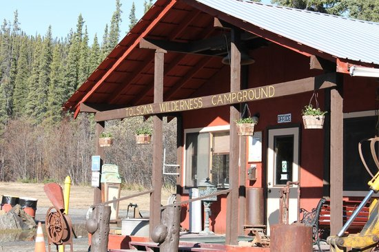 Tolsona Wilderness Campground: Check In & Goodies Building