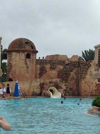 Disney's Caribbean Beach Resort: main pool water slide